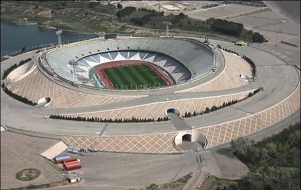 Estadio Azadi de Irán, entre los 10 primeros del mundo. los campos de futbol mas grandes del mundo