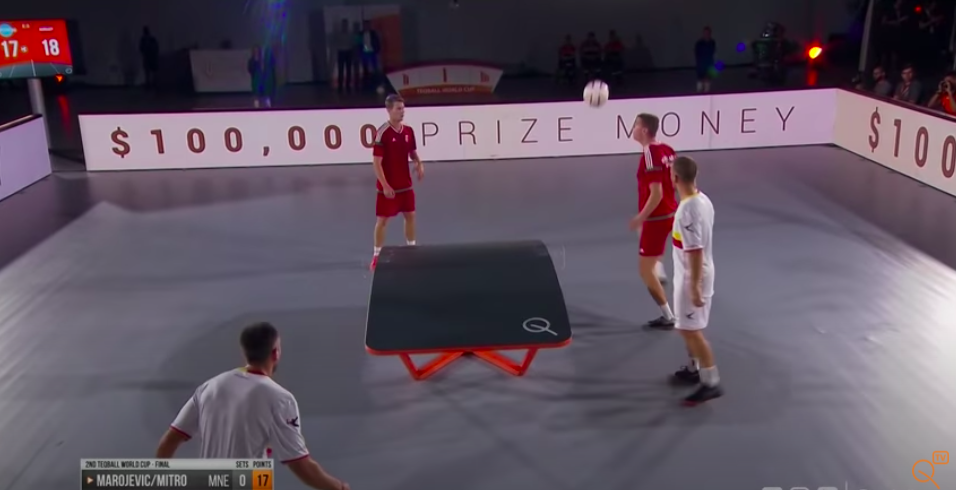 Una de las reglas de teqball es la medida de la mesa o cancha medidas de mesa taqeball