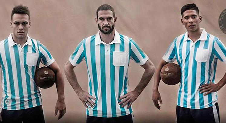 Racing club argentina 1967 camiseta vintage retro histórica del fútbol