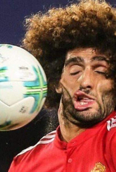 fellaini pelotazo en la cara futbolistas tontos frases
