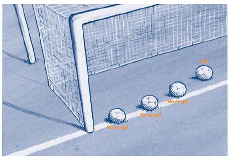 imagen que muestra cunado se cobra un gol en un partido de futbol. reglamento del futbol